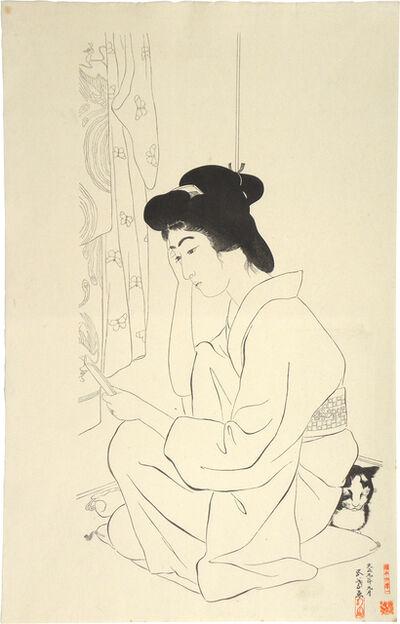 Goyo Hashiguchi, 'Hand mirror keyblock print', ca. 1949-50