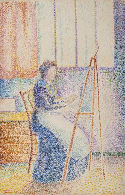 Hippolyte Petitjean, 'La femme de l'artiste à son chevalet', 1910-1912