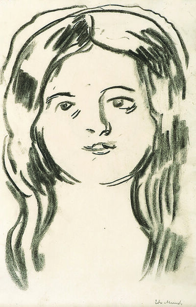 Edvard Munch, 'Mossepiken (The Girl from Moss)', 1900-1910
