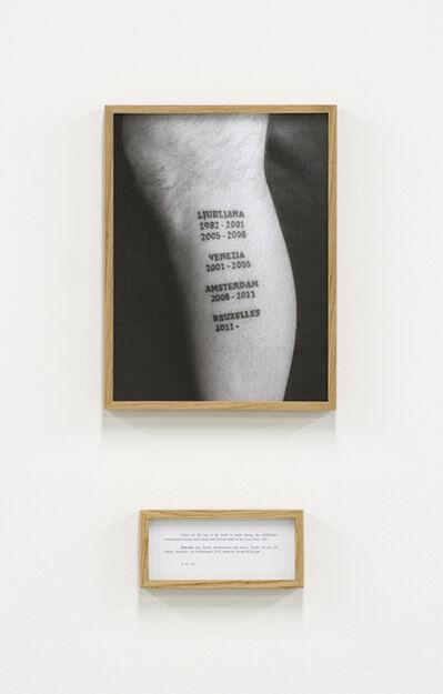 Ištvan Išt Huzjan, 'Tetovaza (Tattoo), from the series Performances', 2012