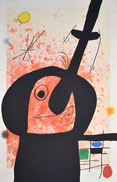 Joan Miró, 'The Great Thinker   Le penseur puissant', 1969