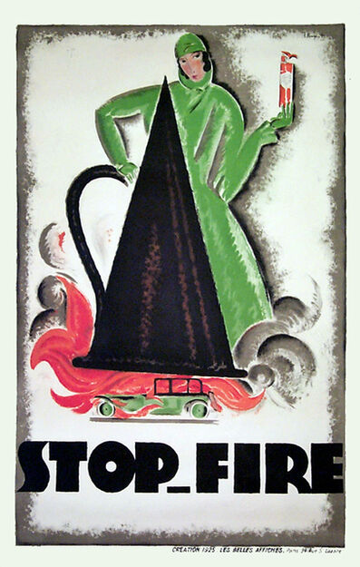 Charles Loupot, 'STOP FIRE', 1925