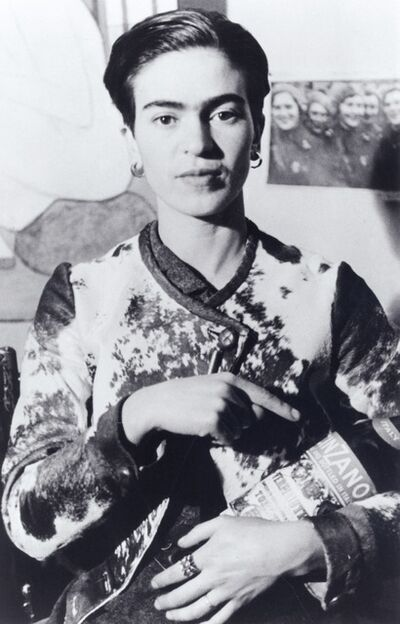 Lucienne Bloch, 'Frida With Cinzano Bottle', 1935