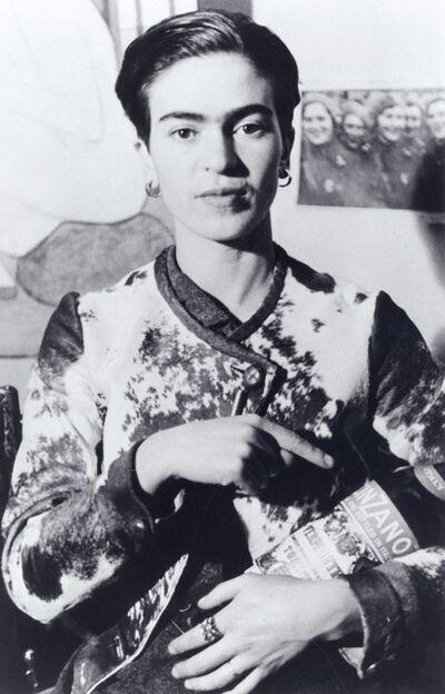 Lucienne Bloch, 'Frida With Cinzano Bottle', 1935