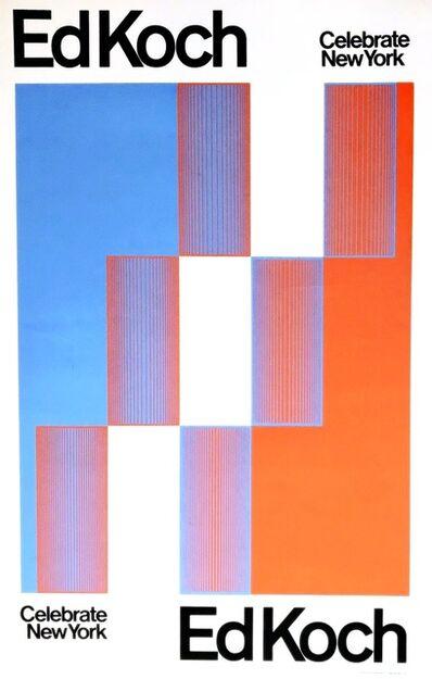Richard Anuszkiewicz, 'Celebrate New York/Ed Koch, Ed Koch/Celebrate New York (Hand Signed & Inscribed)', 1974