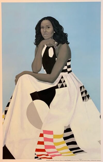 Amy Sherald, 'Michelle LaVaughn Robinson Obama Portraits National Gallery Edition White House ', ca. 2018