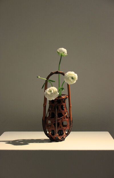 Kosuge Kōgetsu, 'Hexagonal Plaited Flower Vase with a Handle', 1960-1980