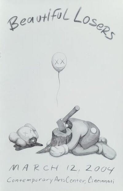 KAWS, 'Beautiful Losers, exhibition poster', 2004