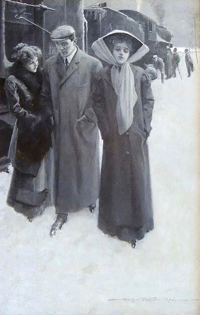 Gale Porter Hoskins, 'At the Train Station', 20th Century