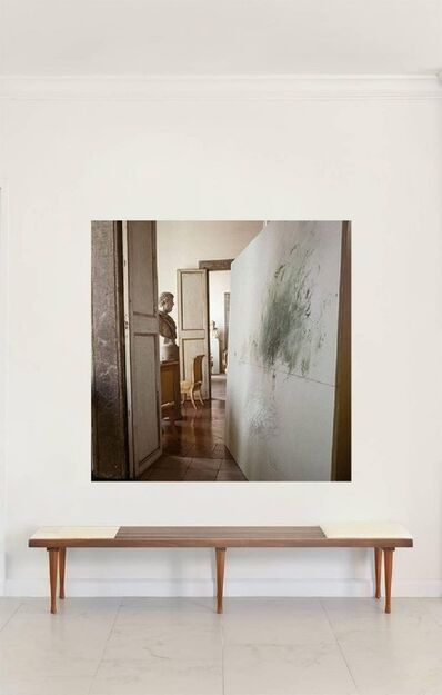 Horst P. Horst, 'Cy Twombly in Rome  - Untitled #13, Large Canvas', 1966