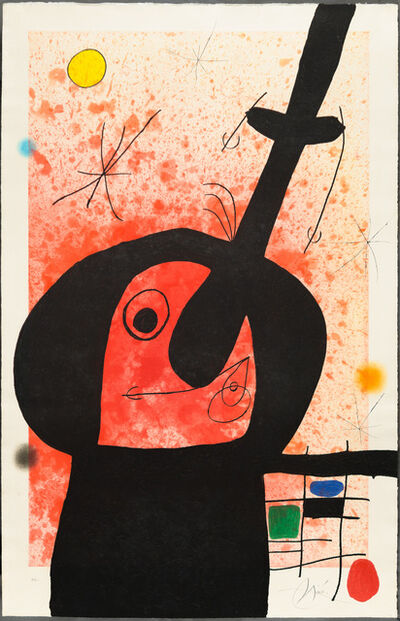 Joan Miró, 'LE PENSEUR PUISSANT (The Powerful Thinker)', 1969