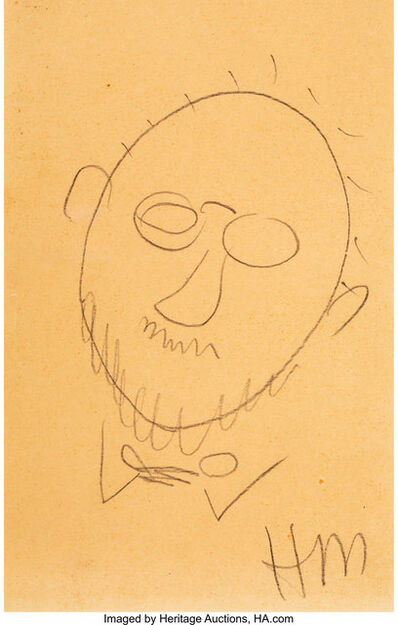 Henri Matisse, 'Self-Portrait Sketch', 1939