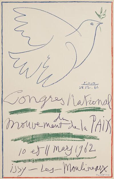 Pablo Picasso, 'Congrès National du Mouvement de la Paix', 1962