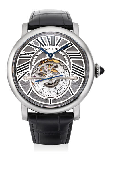 Cartier, 'A fine and rare limited edition nobium-titanium wristwatch with astroregulateur, certificate and presentation box, numbered 6 of a limited edition of 50 pieces', Circa 2011