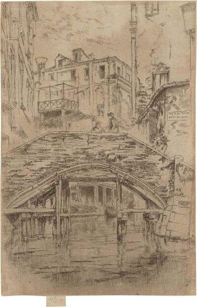 James Abbott McNeill Whistler, 'PONTE DEL PIOVAN (K. 209; G. 220)', 1886