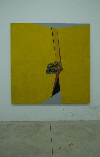 Silvia Lerin, 'Amarillo plegado con hendidura (Folded yellow with fissure)', 2013