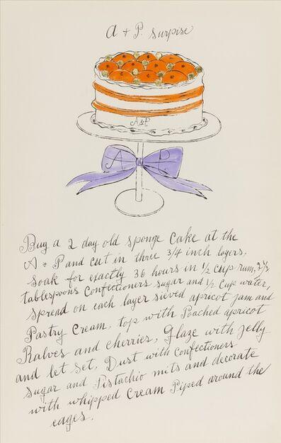 Andy Warhol, 'A + P Surprise (from Wild Raspberries) (see Feldman & Schellmann IV.127.A)', 1959