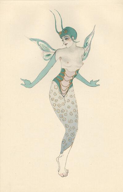 """Walter Schnackenberg, '""""Cricket"""", Ballet und Pantomime (plate 13)', 1920"""