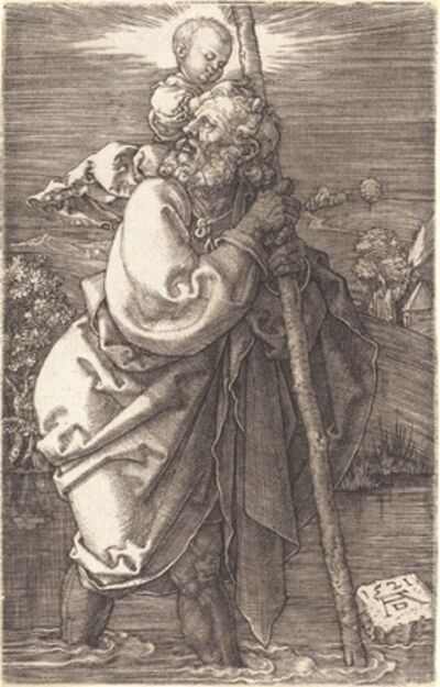 Albrecht Dürer, 'Saint Christopher Facing Left', 1521
