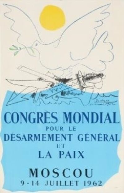 Pablo Picasso, 'Poster for the Congress on Peace and Disarmament', 1962
