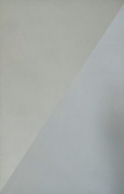 Lothar Quinte, 'Spiegelbild diagonal Weißgrau ', 1998