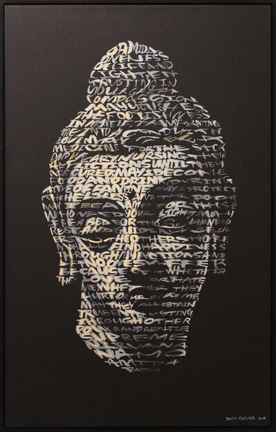 David Hollier, 'Buddha (Text: Metta Karuna Prayer)', GFA1220