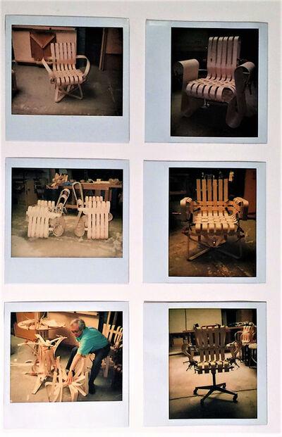 Frank Gehry, '6- Polaroid's, Knoll Bent Wood ProtoTypes ', 1989