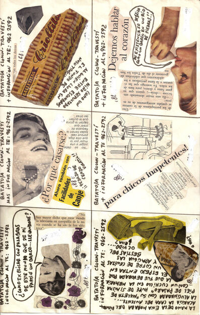 "Batato Barea, 'Untitled, (Flyer/ collage for ""Freedom Disco"" and ""Crash Disco"")', 1988"