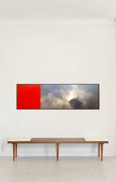 James Lahey, 'Rood Screen, acrylic landscape  painting on two  panels, framed', 1998