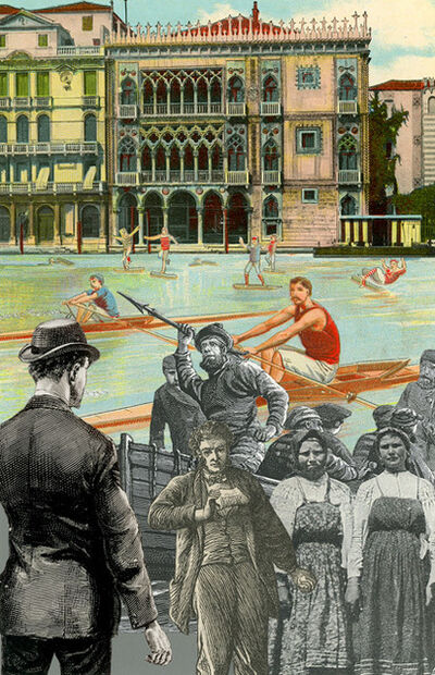 Peter Blake, 'Inkjet on canvas - Venice- Single Sculls', 2013