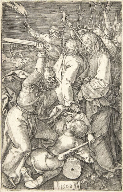 Albrecht Dürer, 'Betrayal of Christ (from the Engraved Passion)', 1508