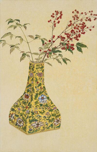 Lee Jung Eun (b. 1971), '노란화병에 담긴 가을 - 남천', 2015
