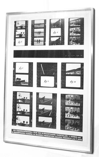 """Marcel Broodthaers, 'Eisenbahnüberfall (""""Railroad robbery"""")', 1972"""