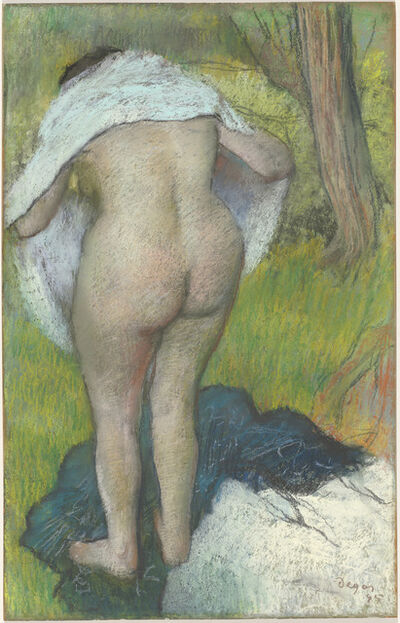 Edgar Degas, 'Girl Drying Herself', 1885