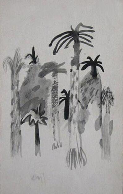 "K. G. Subramanyan, 'Palm Tree, Watercolor Drawing, Padma Vibhushan & Padma Bhushan Awardee ""In Stock""'"