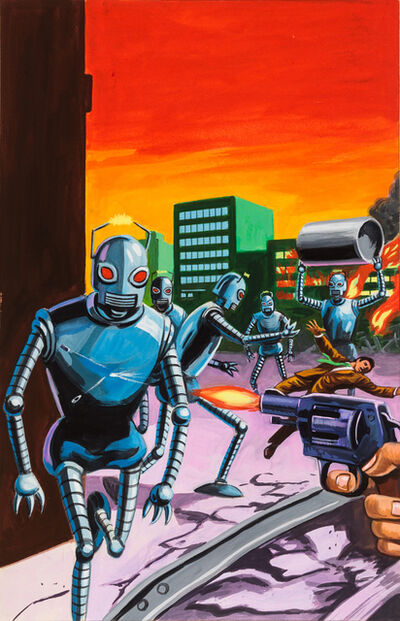 'Untitled (Robots attacking city)', c. 1960-75