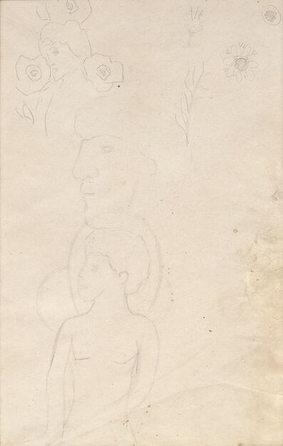 "Paul Gauguin, 'Pencil Study for ""We Greet Thee, Mary""', c. 1891"