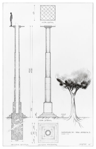 Horacio Zabala, 'Anteproyecto de mirador (Draft Project of Lookout)', 2017