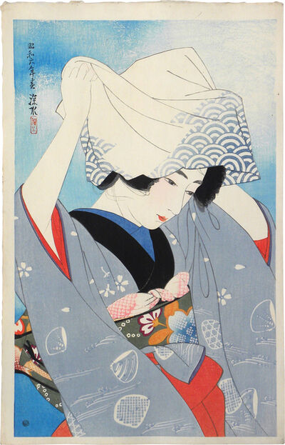 Itō Shinsui, 'The First Collection of Modern Beauties: Digging Seashells', ca. 1931