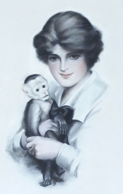 Frederic Stanley, 'Woman with Monkey', 1915