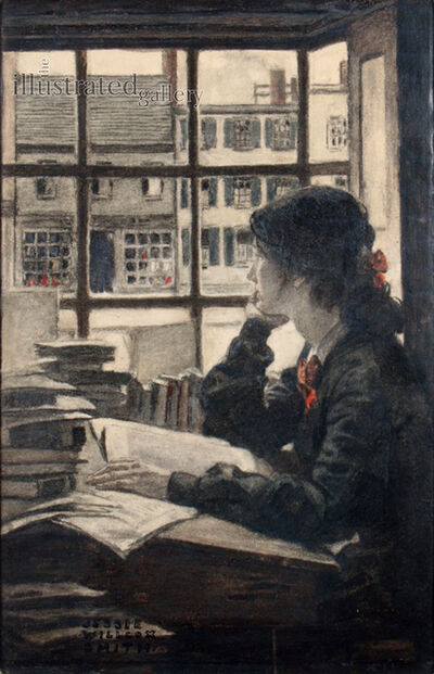 JESSIE WILLCOX SMITH, 'Young Woman Gazing', 1900