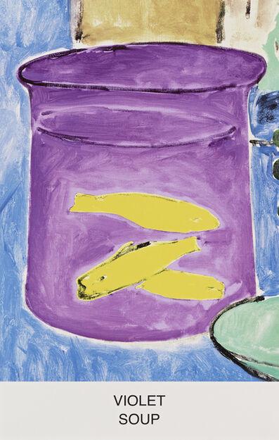 John Baldessari, 'Eight Soups: Violet Soup', 2012