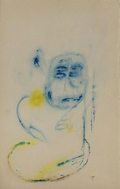Henri Michaux, 'Tête bleue', 1955