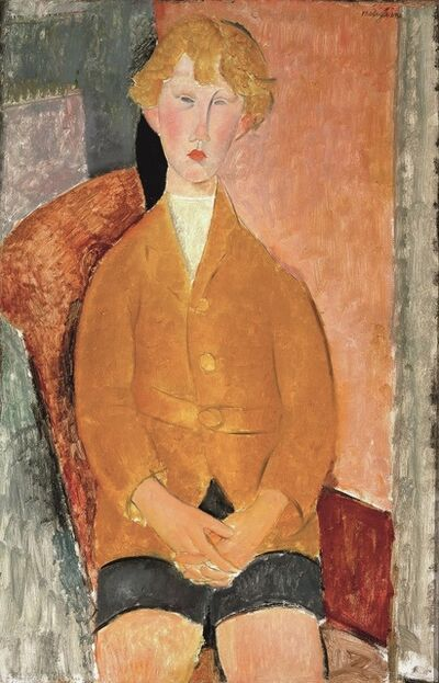 Amedeo Modigliani, 'Boy in Short Pants', 1918