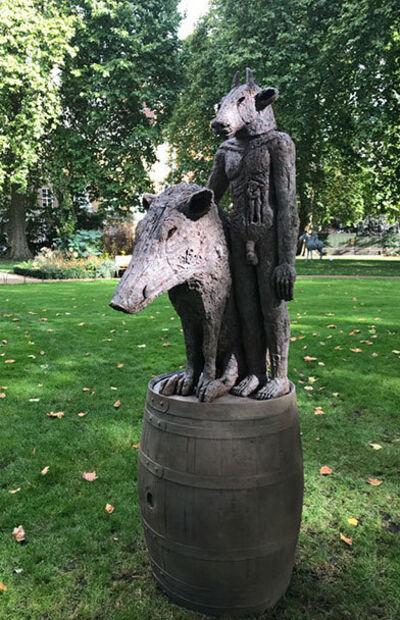 Sophie Ryder, 'Minotaur and Boar on a Barrel, Large (B/17/03)', 2017