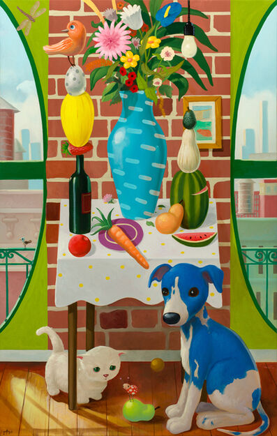 """Geoffrey Gersten, '""""Still Life with Vase and Puppy""""', 2018"""