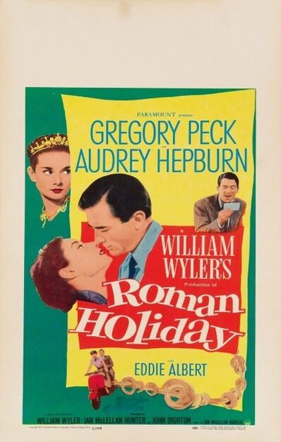 Film Poster, 'Roman Holiday', 1953