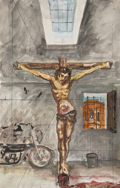 """Antonio Berni, 'Sin Título (Boceto para """"Cristo en el garaje"""", 1981)', ca. 1981"""