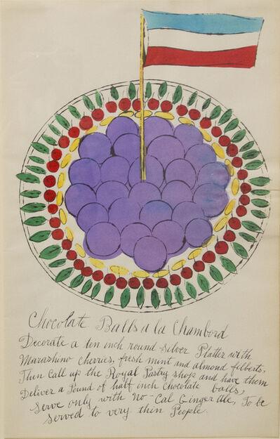 Andy Warhol, 'Chocolate Balls a la Chambord', 1959