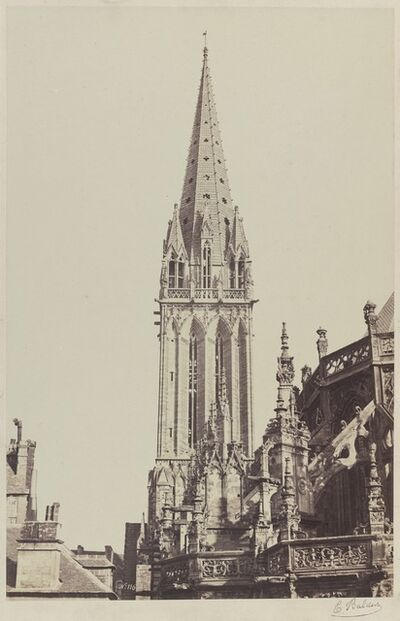 Édouard Baldus, 'Church of Saint-Pierre, Caen', 1855